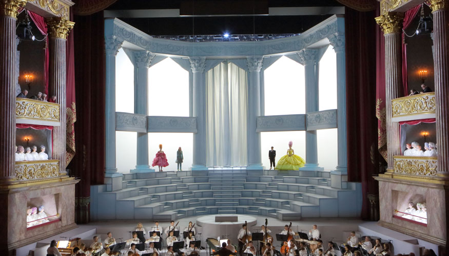 The opening tableau from the BSO's La clemenza di Tito